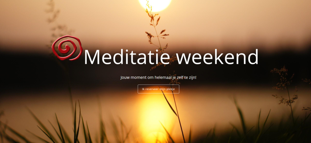 Meditatie weekend event header