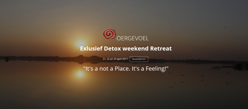Oergevoel - Detox weekend april 2017